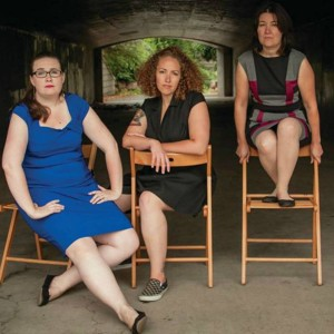 Claire Rice, Rachel Bublitz, Tracy Held Potter. Photo by Rob Reeves